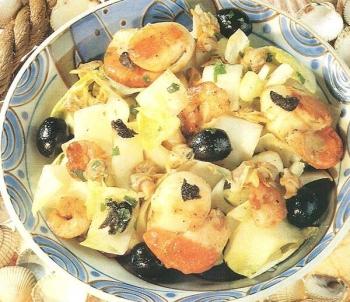salata sikore me frouta tis thalassas